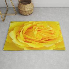 Beautiful Yellow Rose Closeup Rug