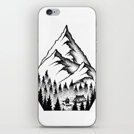 Mountain Camping iPhone Skin