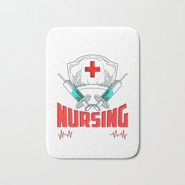 No Sleep No Money No Life Funny Nursing Student RN Bath Mat
