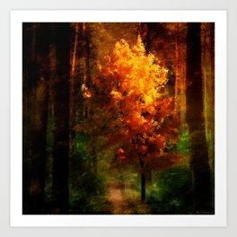 The Autumn Tree Art Print