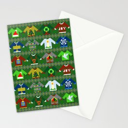 The Ugly 'Ugly Christmas Sweaters' Sweater Design Stationery Cards