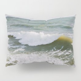 Yellow Wave Pillow Sham