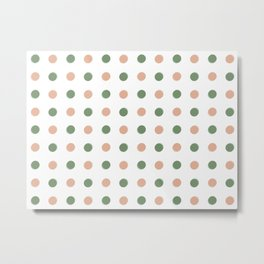 Offset Dots Metal Print