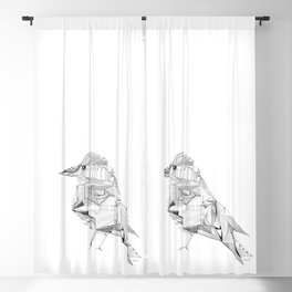 Geometric Architectural Bird-01 Blackout Curtain