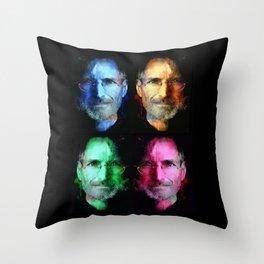 Steve Jobs Throw Pillow