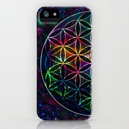 Flower of Life in the Universe - Universe in the Flower of Life iPhone Case
