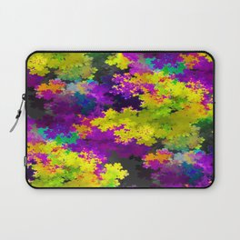 Floral Print Dress purple and yellow Laptop Sleeve