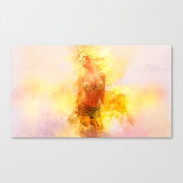 The Girl with the Sun in Her Hair IV Canvas Print