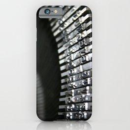 Vintage Typewriter Keys iPhone Case