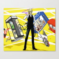 durarara Canvas Prints featuring Heiwajima Shizuo 3 by Prince Of Darkness