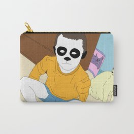 Boy With Cat Carry-All Pouch