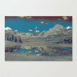 Dolomites Mountains View Alpine Trentino in Italy Canvas Print