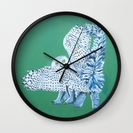 Cat Owl Wall Clock