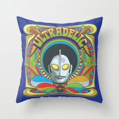 Ultradelic Throw Pillow