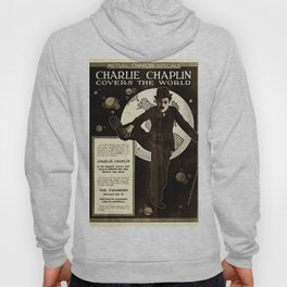 Charlie Chaplin Covers the World Hoody
