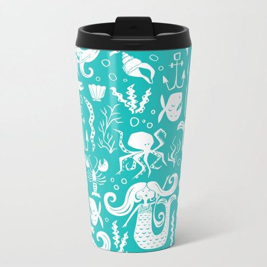 Under The Sea Aqua Metal Travel Mug