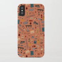 the grand budapest hotel iPhone & iPod Cases featuring Budapest Hotel Plot Pattern by Dan Lehman