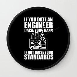 Date An Engineer Wall Clock