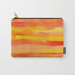 Watercolor Pattern Abstract Summer Sunrise Sky on Fire Carry-All Pouch