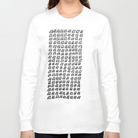 music notes Long Sleeve T-shirts featuring MUSIC Notes  by Geryes