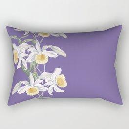 Floral fling in ultra violet Rectangular Pillow