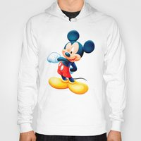 mickey Hoodies featuring Mickey by loveme