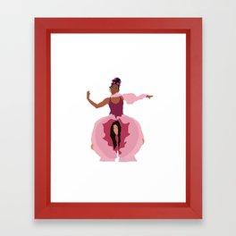 Pynk Minimalist: Janelle Monae & Tessa Thompson Framed Art Print