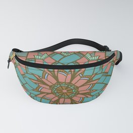 Geometric Feather Weave Fanny Pack