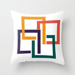 Modern geometric minimal mid century Throw Pillow