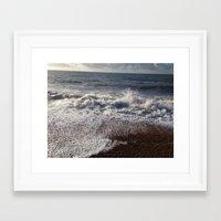 breaking Framed Art Prints featuring Breaking  by Rhiannon Dance