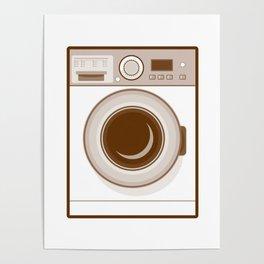 Retro Washing Machine Poster
