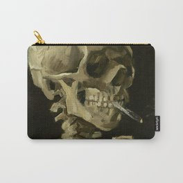 Skull of a Skeleton with Burning Cigarette by Vincent van Gogh Carry-All Pouch