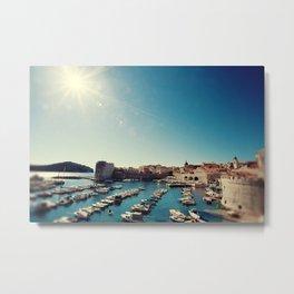 Old Town Harbor - Dubrovnik, Croatia Metal Print