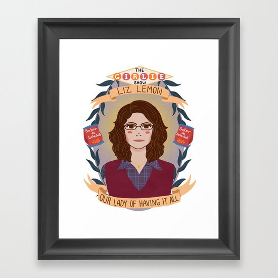 Liz Lemon Framed Art Print
