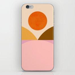 Abstraction_SUNSET_Mountains_ART_Minimalism_001 iPhone Skin