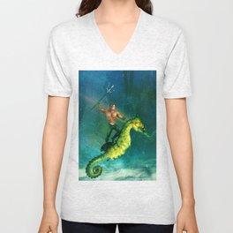 King of the Sea Superfriend Unisex V-Neck
