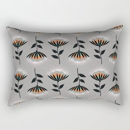 Vintage Grey Wallpaper Floral Rectangular Pillow