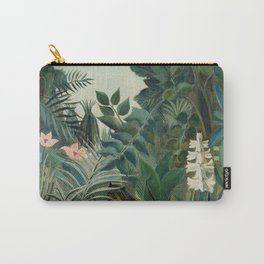 The Equatorial Jungle (1909) by Henri Rousseau Carry-All Pouch