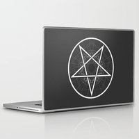 pentagram Laptop & iPad Skins featuring Baphomet Pentagram Star - Satanic sign by kami77a