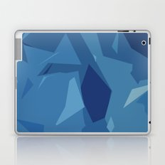 Blue Abstract Map Laptop & iPad Skin