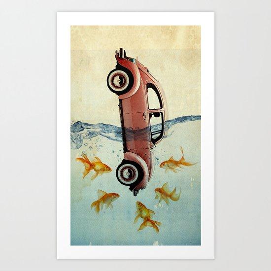 Bug and goldfish Art Print