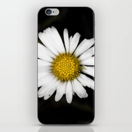 White daisy floating in the dark #1 iPhone Skin