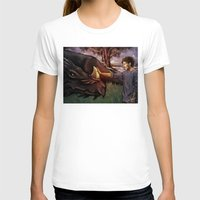 cyrilliart T-shirts featuring Dragon Series: Louis by Cyrilliart