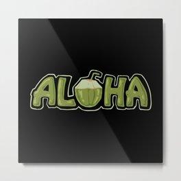 Aloha coconut Metal Print