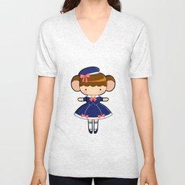 Sailor Lolita Monkey Unisex V-Neck