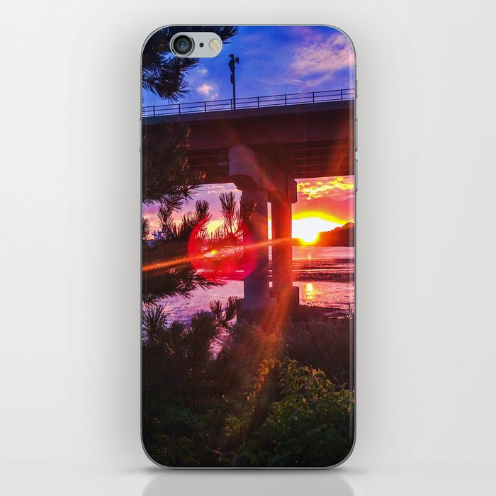 Casco Bay Bridge Sunburst iPhone Skin