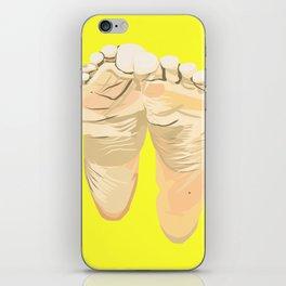 FEET I (Yellow) iPhone Skin