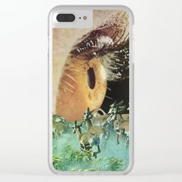 Trick Of The Eye Clear iPhone Case