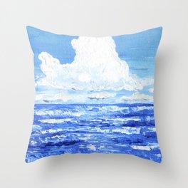 Infinite blue Throw Pillow