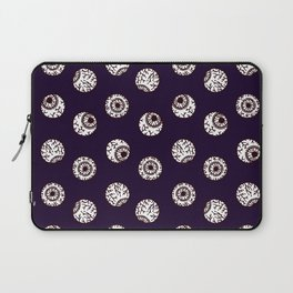 the big brother watches. eye pattern Laptop Sleeve